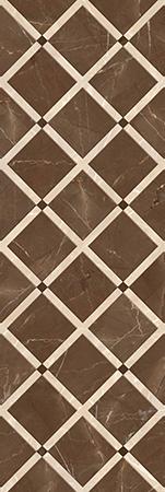 کاشی تبریز آنتیک Antique Brown Relief Decor