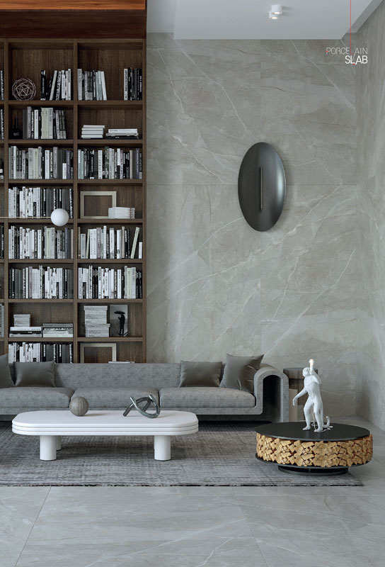 PMA Slab Elegant Grey Marble